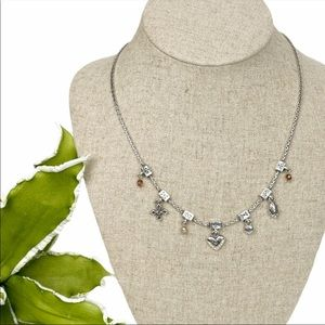 Brighton Retired Silver Charm Necklace New